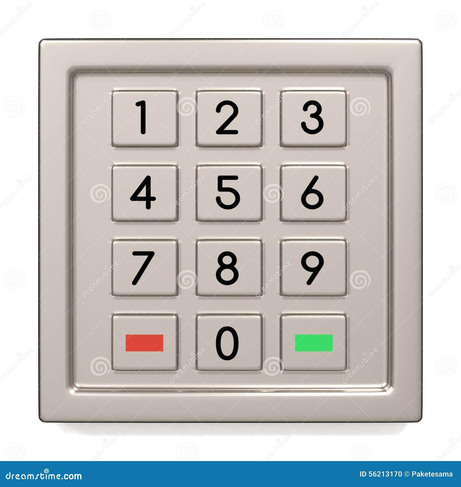 atm machine keypad stock illustration image of code 56213170. Black Bedroom Furniture Sets. Home Design Ideas