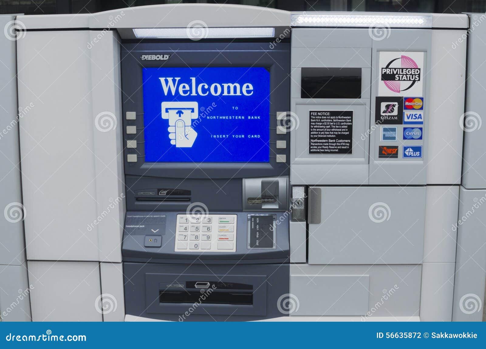 atm machine screen