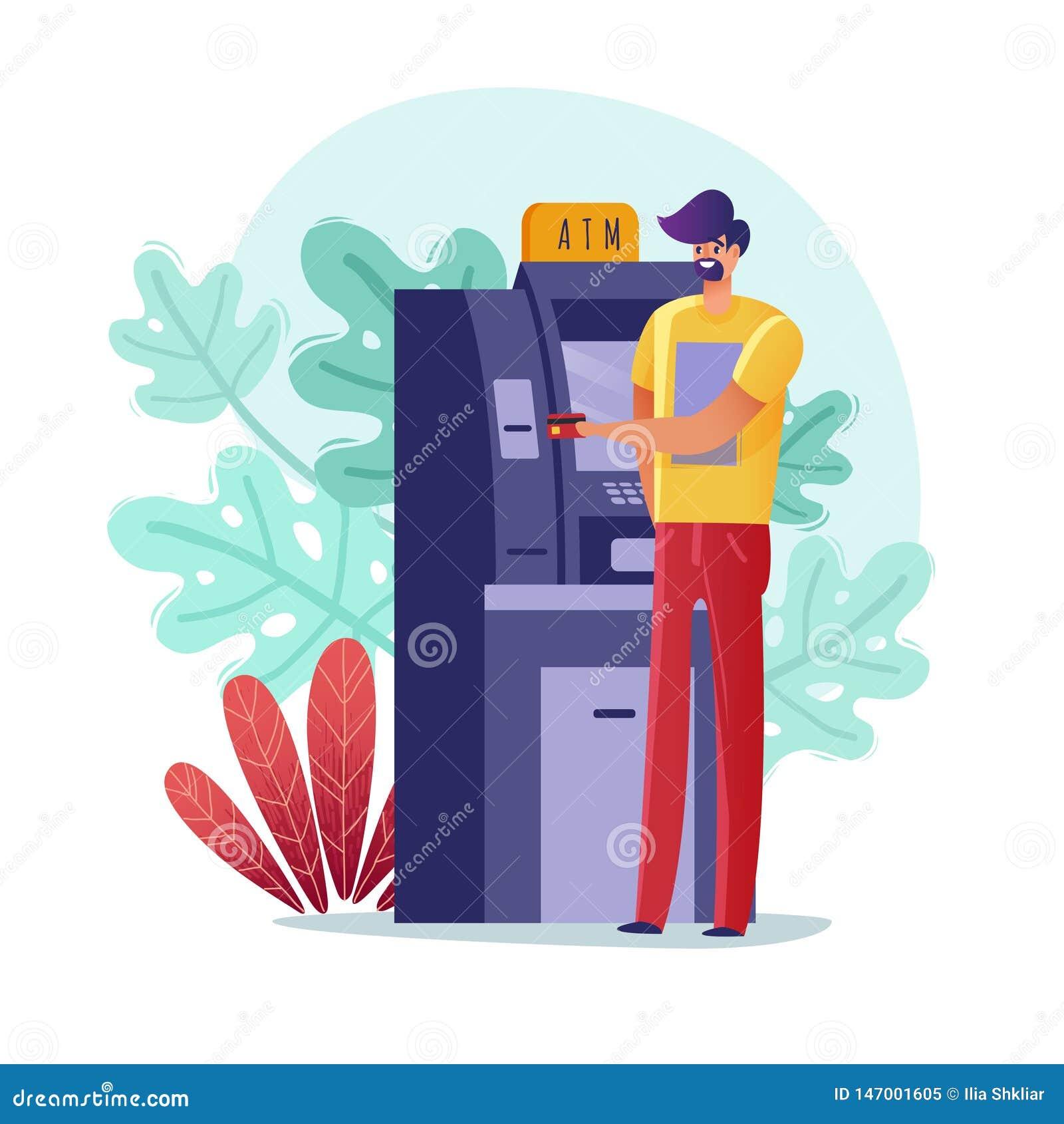 ATM paymens人例证