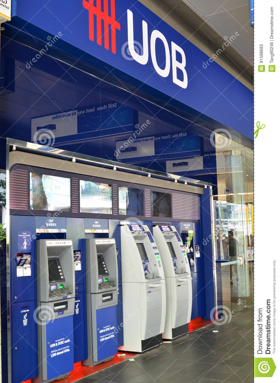 ATM of United Overseas Bank in Singapore