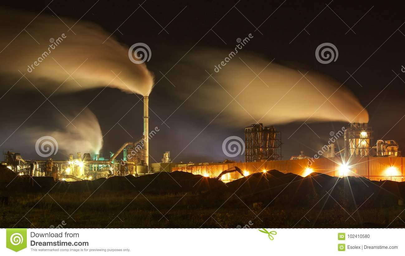 Air Pollution Linked To Slower >> Atmospheric Air Pollution From Industrial Smoke Stock Photo Image
