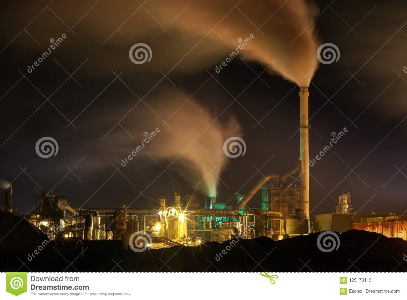 Air Pollution Linked To Slower >> Atmospheric Air Pollution From Industrial Smoke Now Stock Image