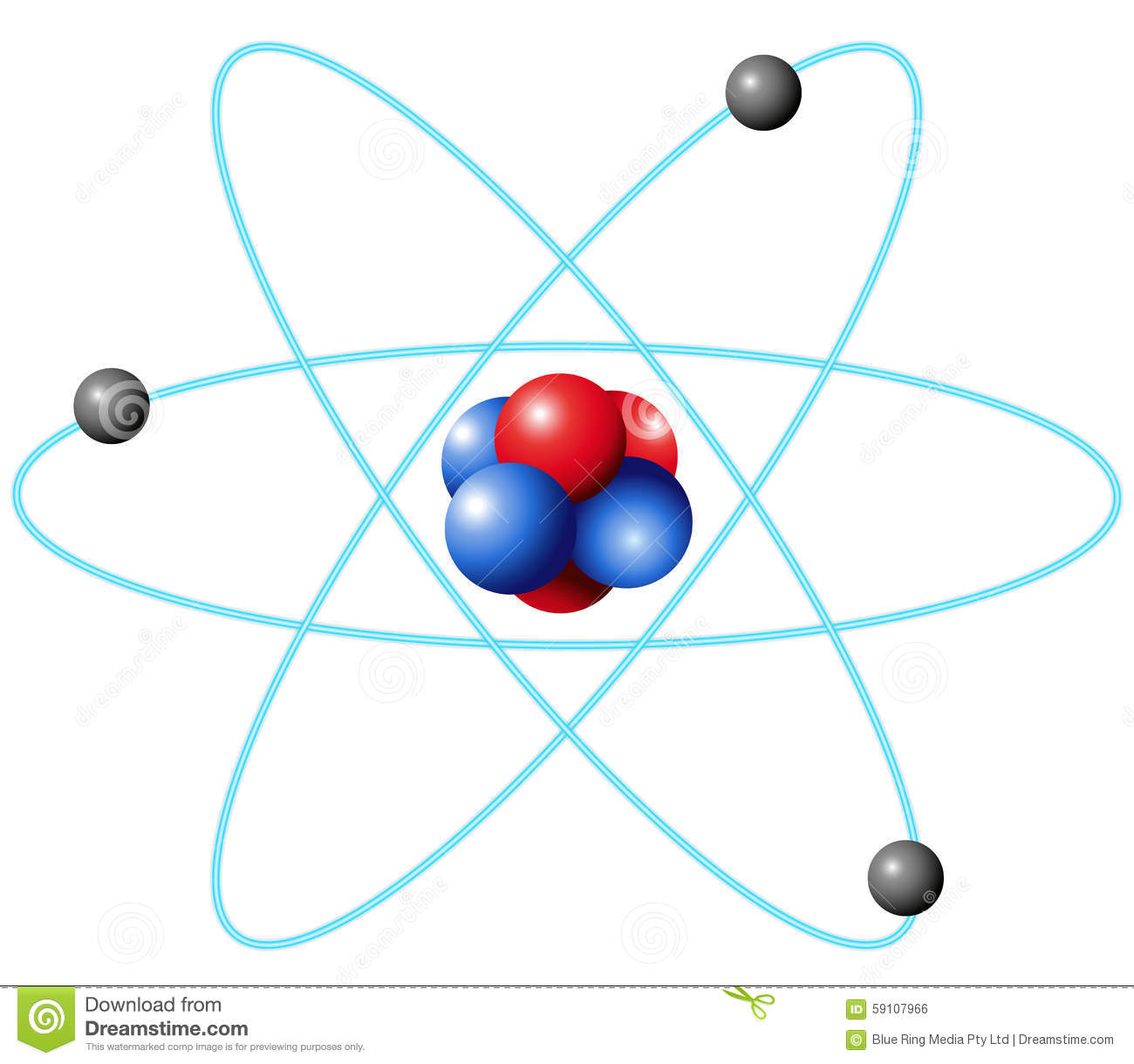 Atom Diagram In Large Scale Stock Vector Image 59107966