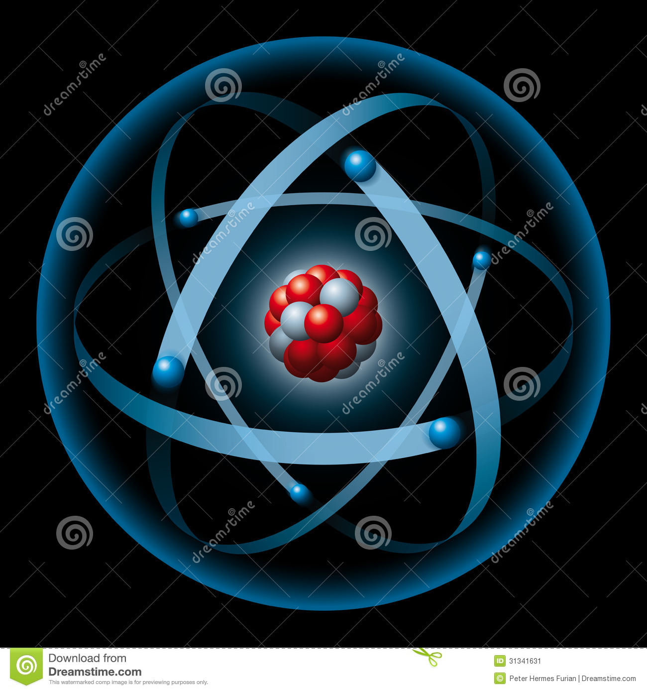 Atom Having Nucleus And Electrons
