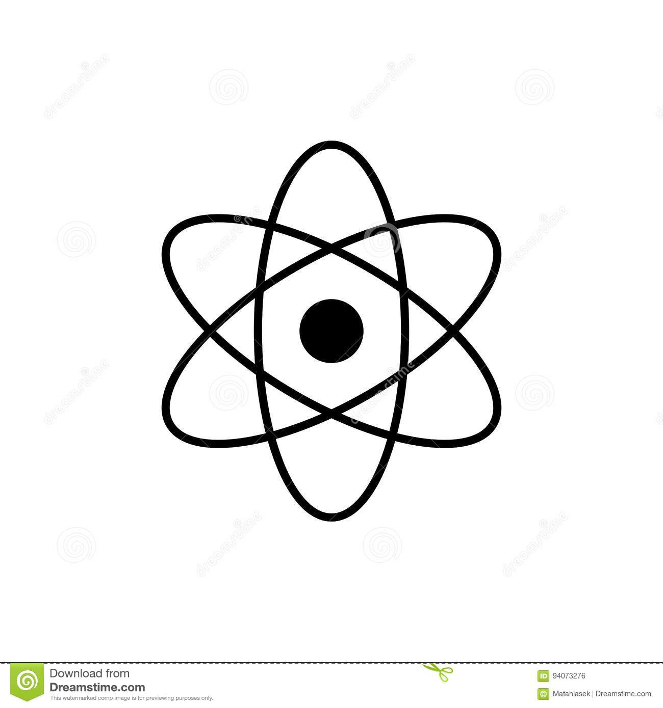 Atom logo science sign nuclear icon electrons and protons nuclear icon electrons and protons isolated on white biocorpaavc
