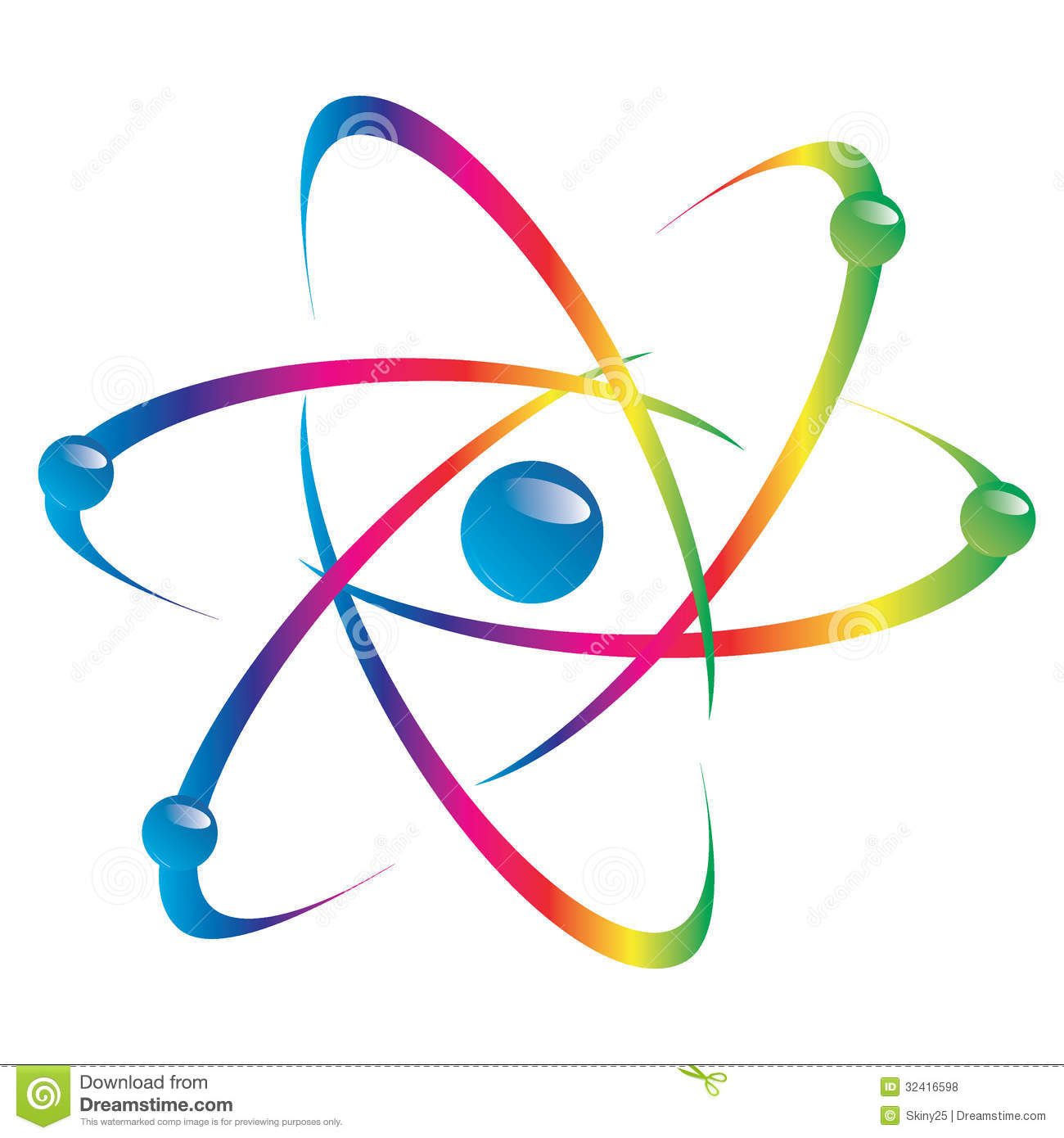 Atom Part On White Background. Royalty Free Stock Photos - Image ...
