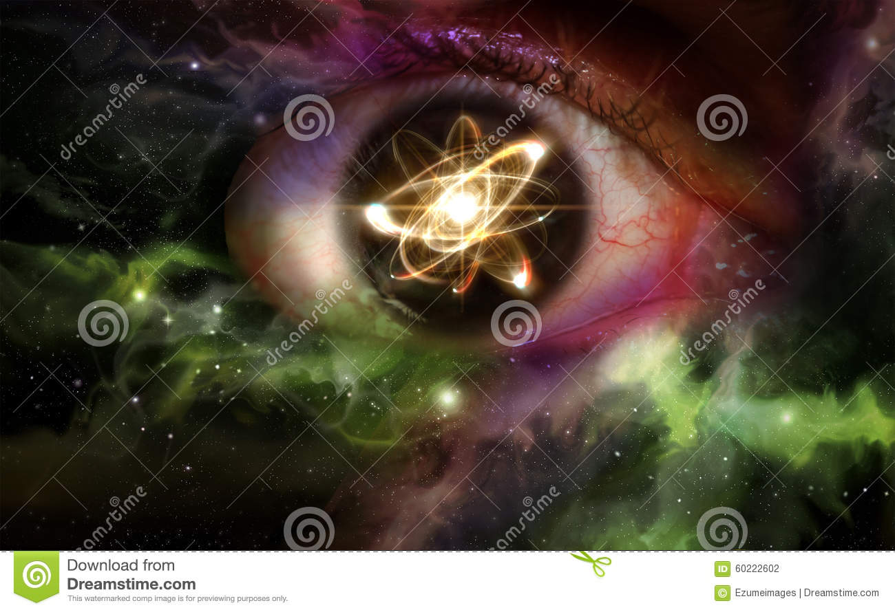 Atom Particle Eyes