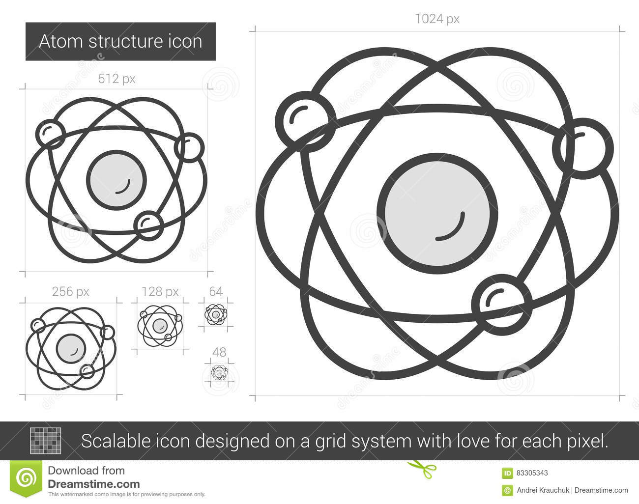 Atom structure line icon stock vector illustration of nucleus download atom structure line icon stock vector illustration of nucleus 83305343 ccuart Images