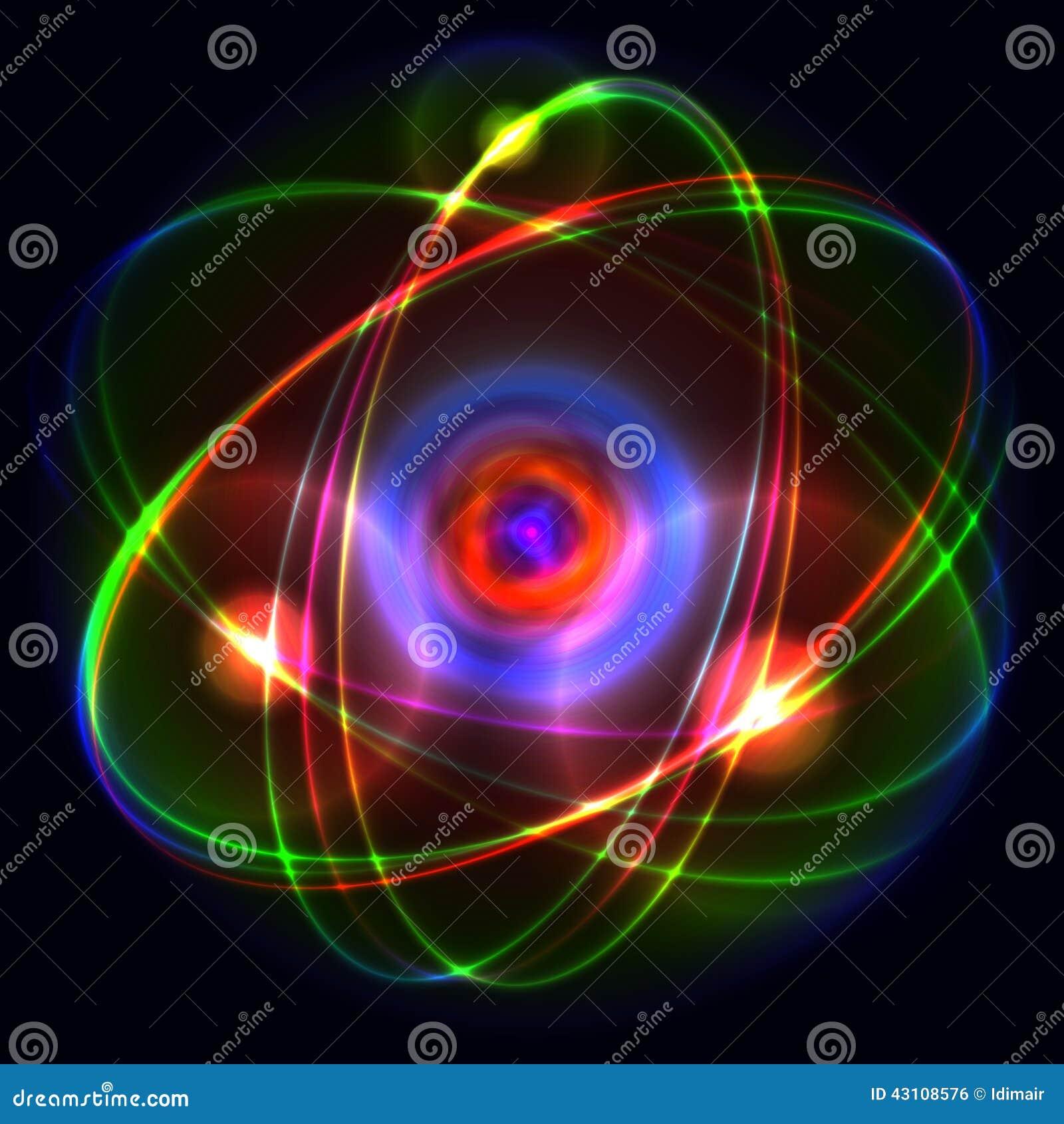 atom vector illustration stock vector image 43108576