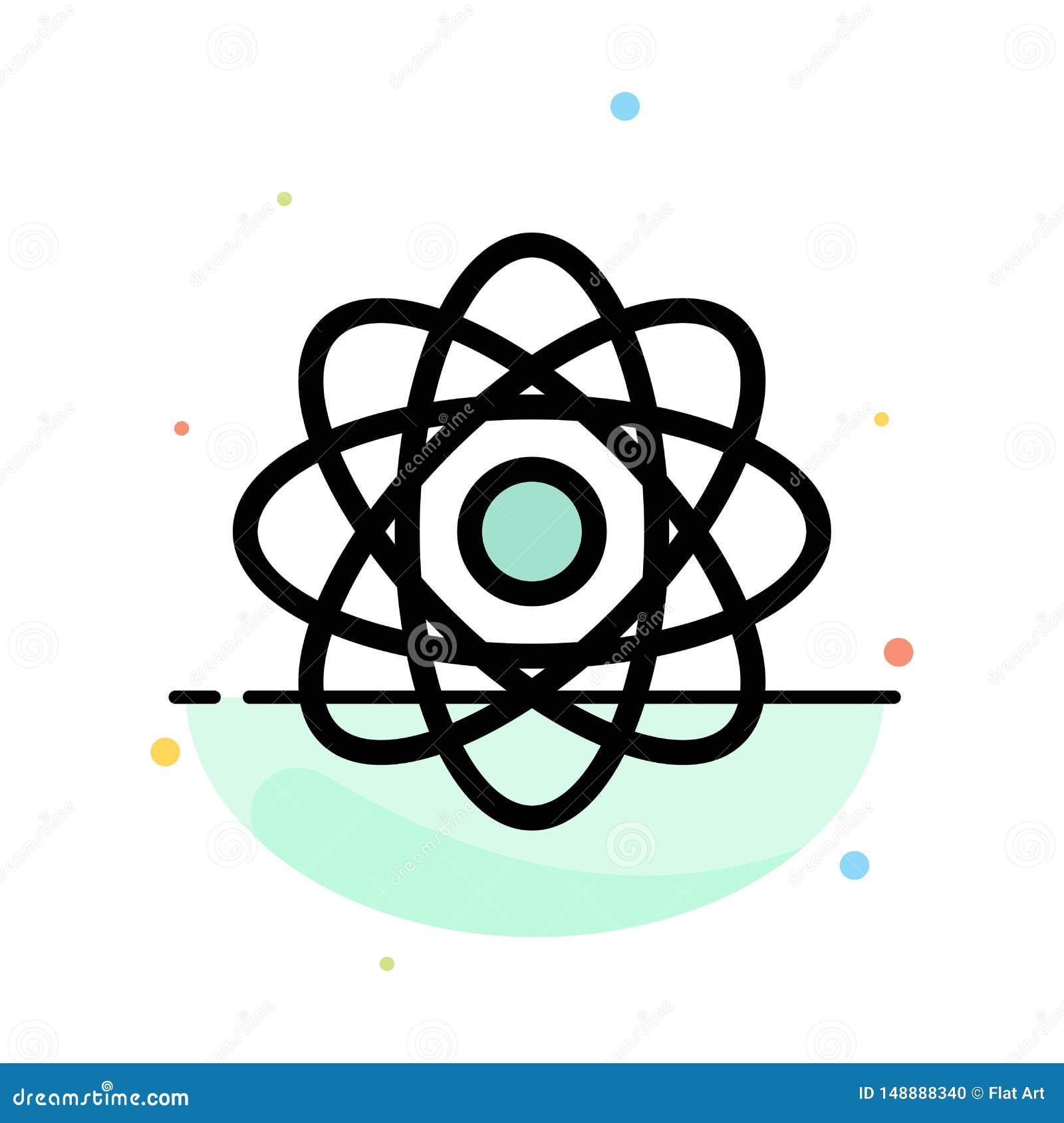 Atome, biochimie, chimie, calibre plat d icône de couleur d abrégé sur laboratoire