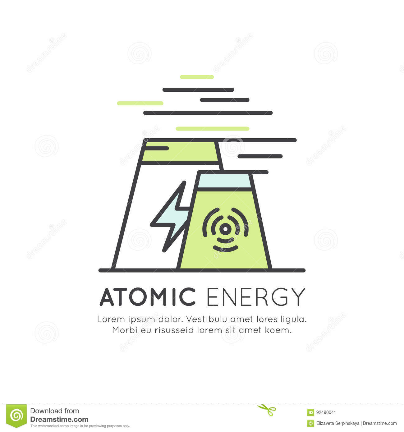 Atomic Energy Station Generator Stock Illustration Of Nuclear Power Plant Diagram
