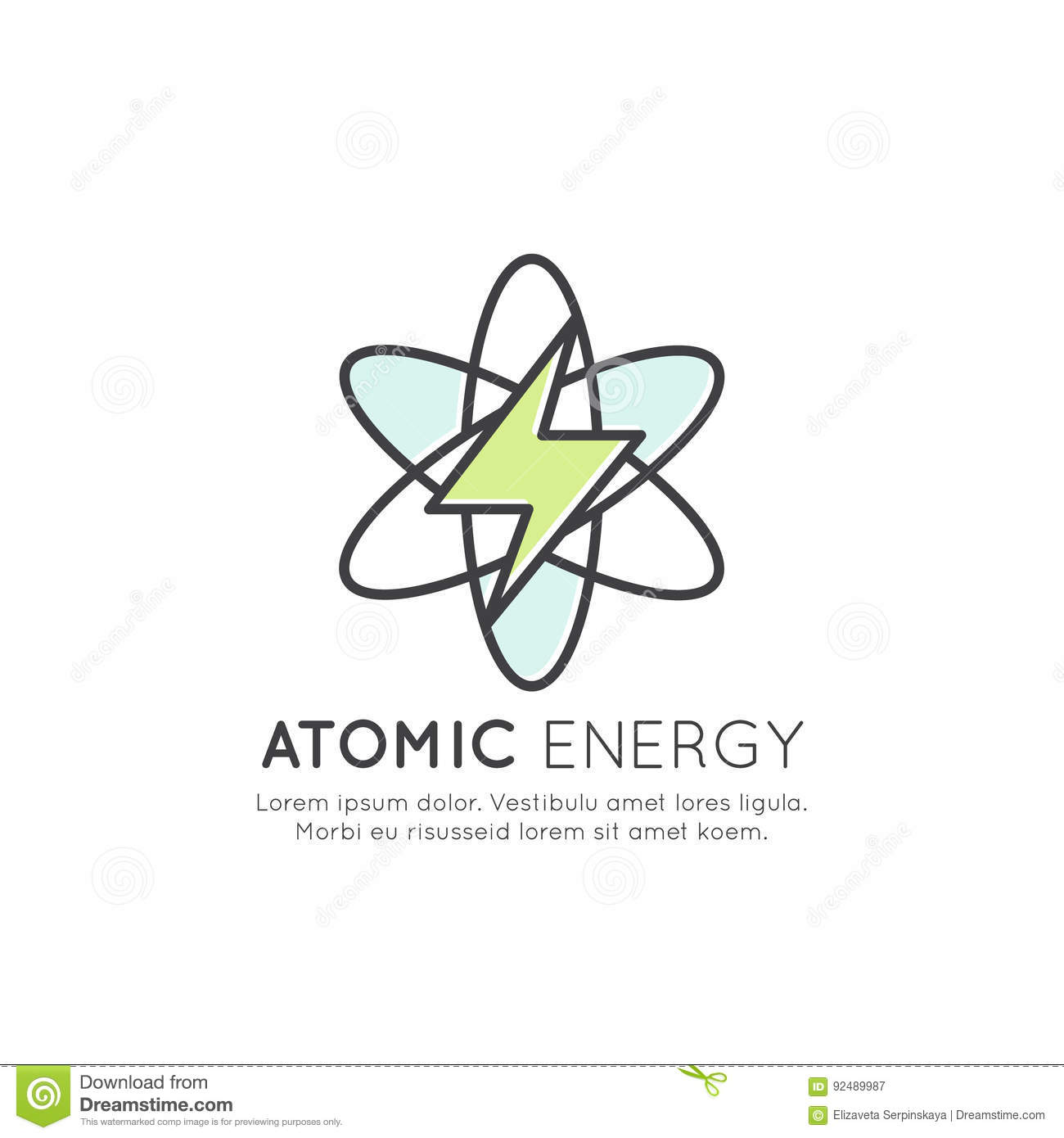 Atomic Energy Station Generator Isolated Vector Icon Style Nuclear Power Plant Diagram Illustration