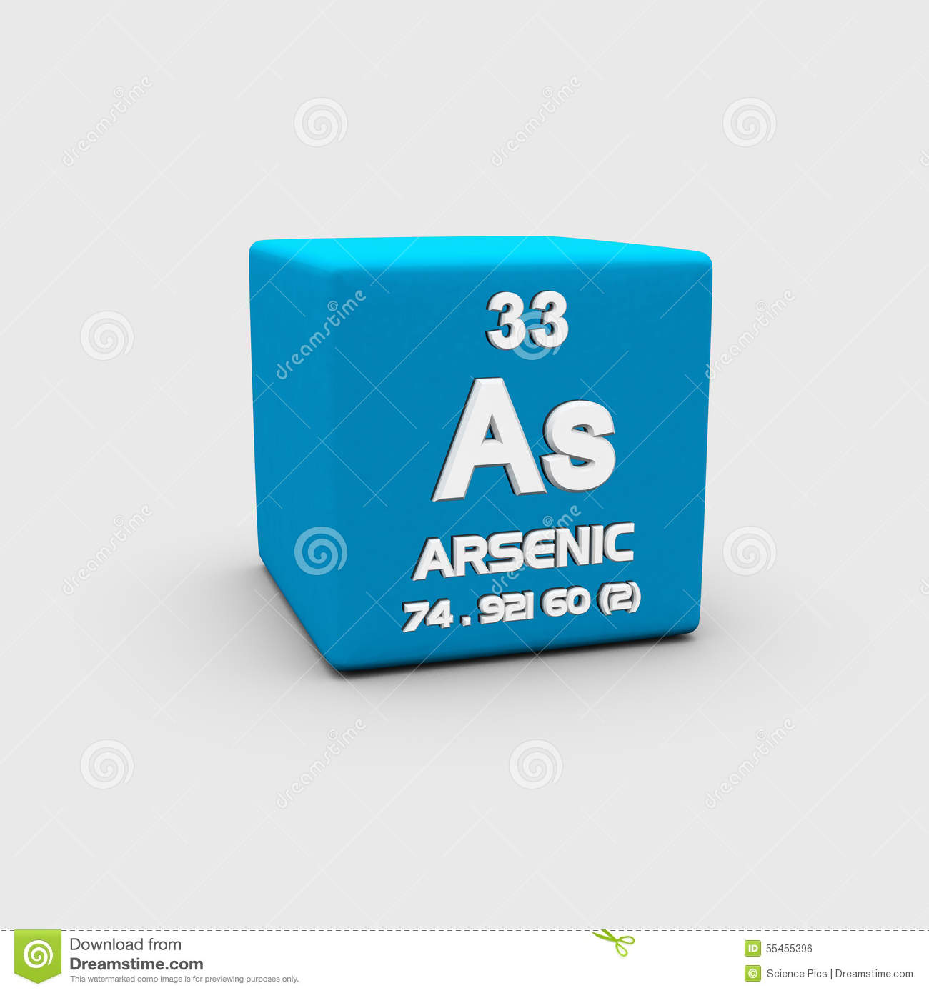 Atomic Number Arsenic Stock Illustration Image 55455396
