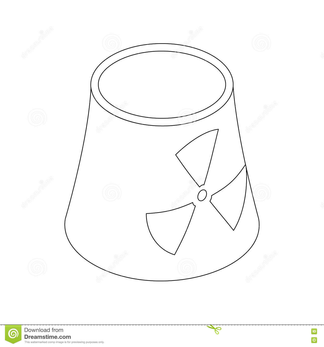 isometric nuclear power facility cartoon vector