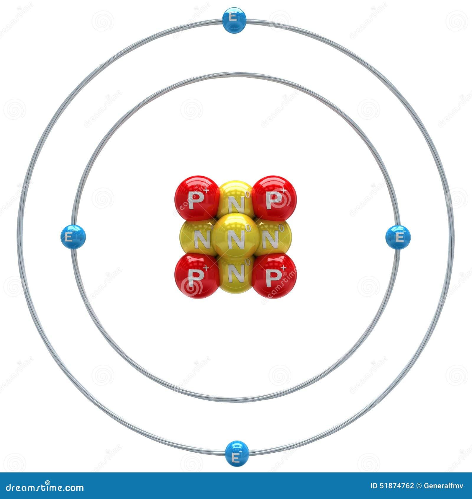 Atomo Del Berillio Su Fondo Bianco Illustrazione Di Stock