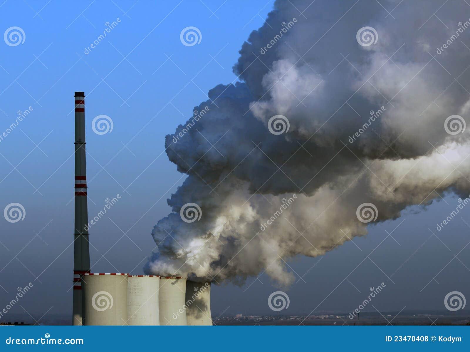 Atomowy Europe rośliny władzy dymienie