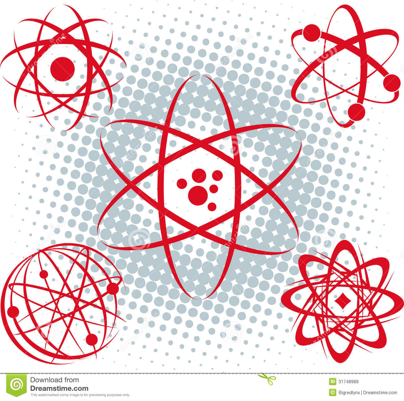 Atoms Stock Vector Illustration Of Science Symbol Nuclear 31748989