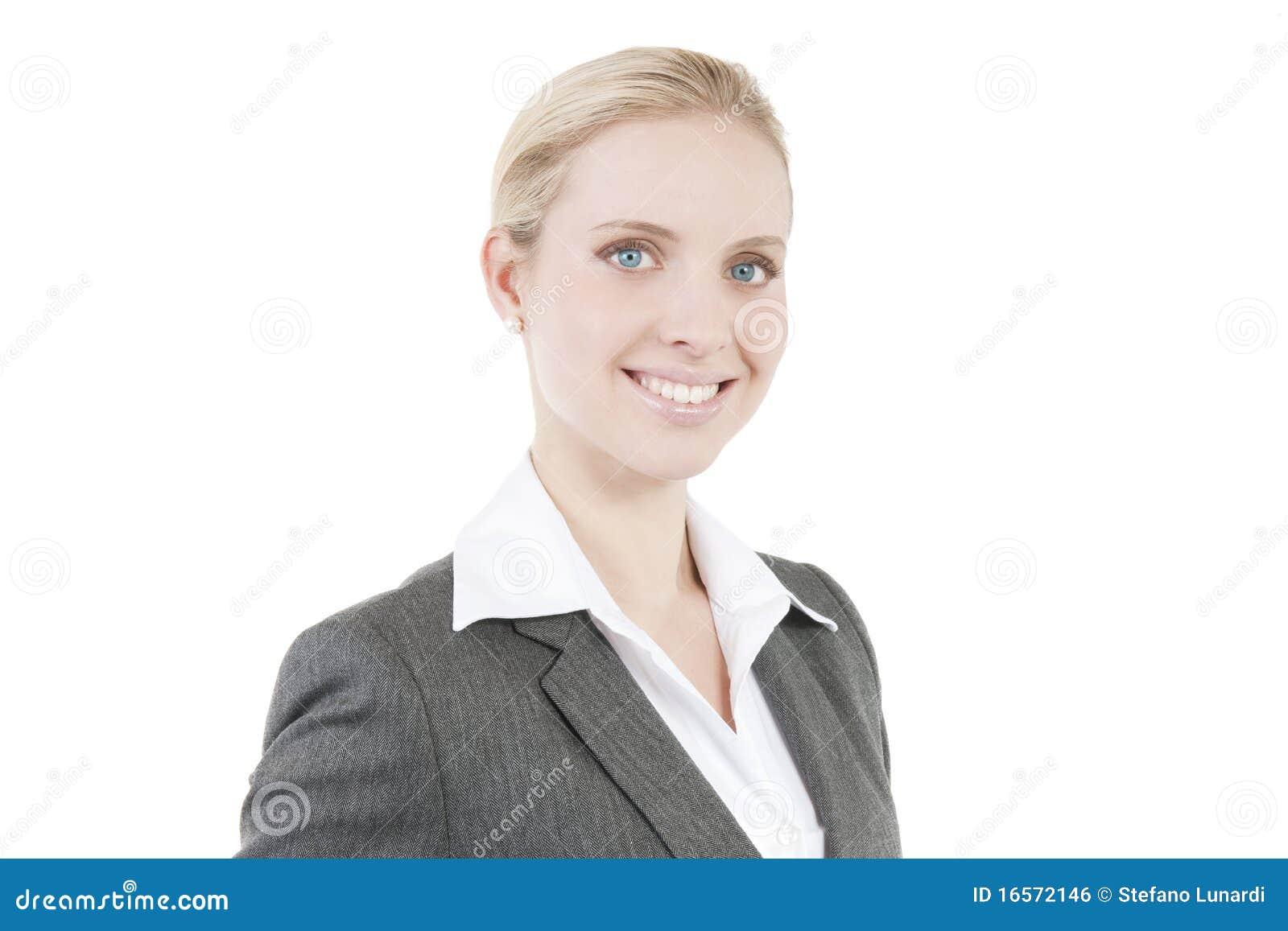 Atrakcyjna biznesowa uśmiechnięta kobieta