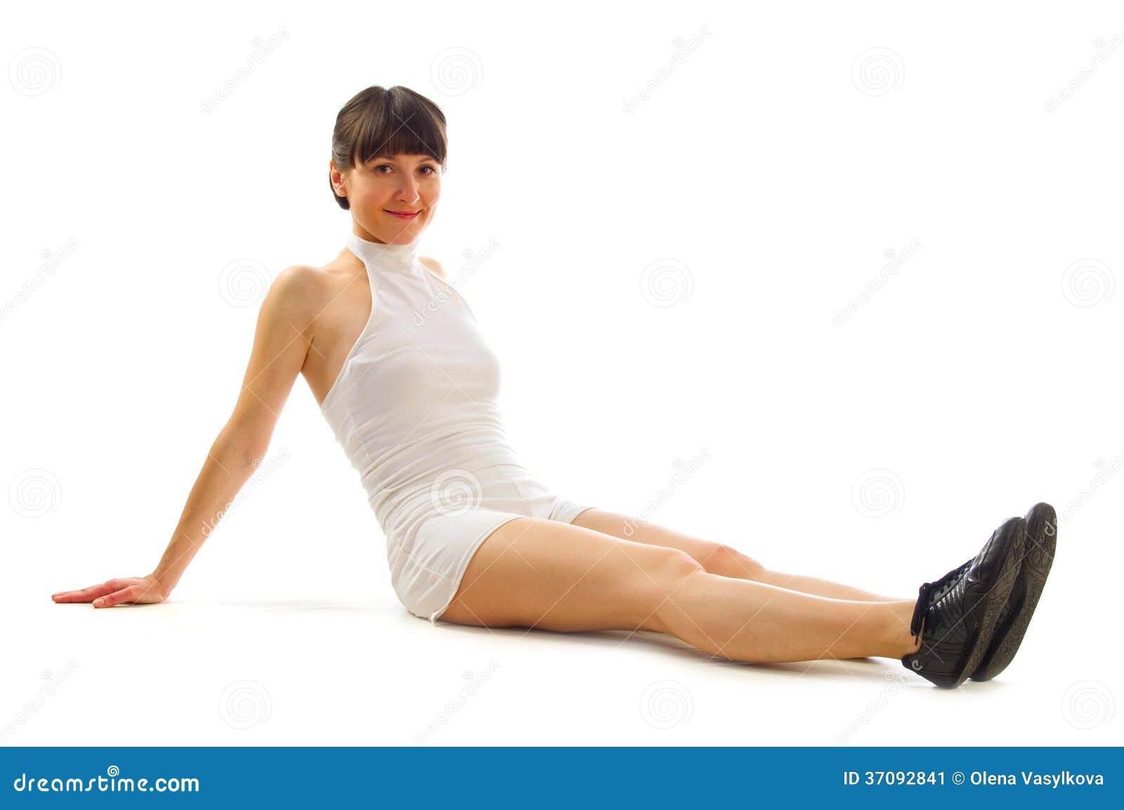 Download Atrakcyjna Młoda Brunetki Dziewczyna Obraz Stock - Obraz złożonej z mięsień, jeden: 37092841
