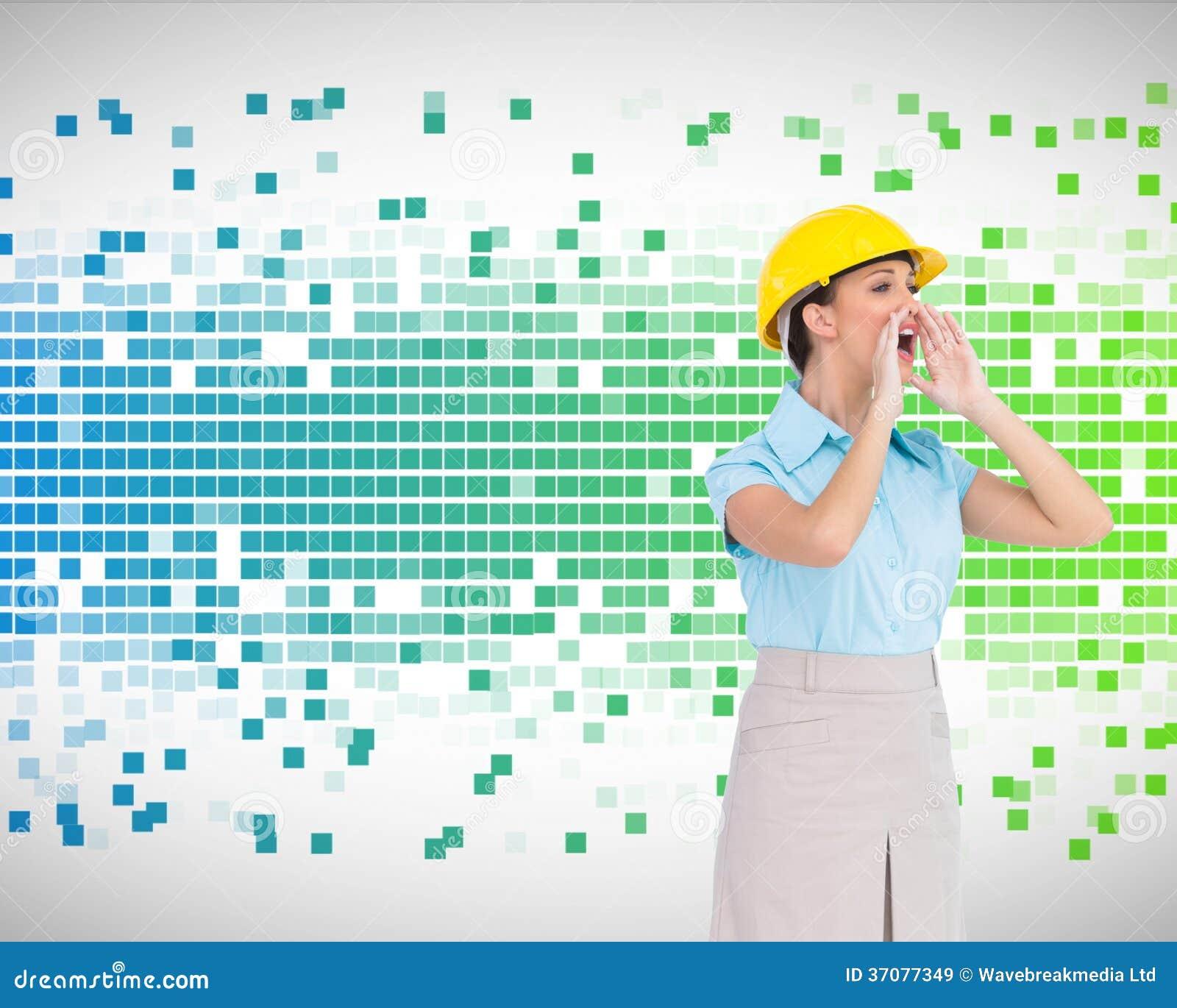 Download Atrakcyjny Architekta Krzyczeć Obraz Stock - Obraz złożonej z digitise, classy: 37077349