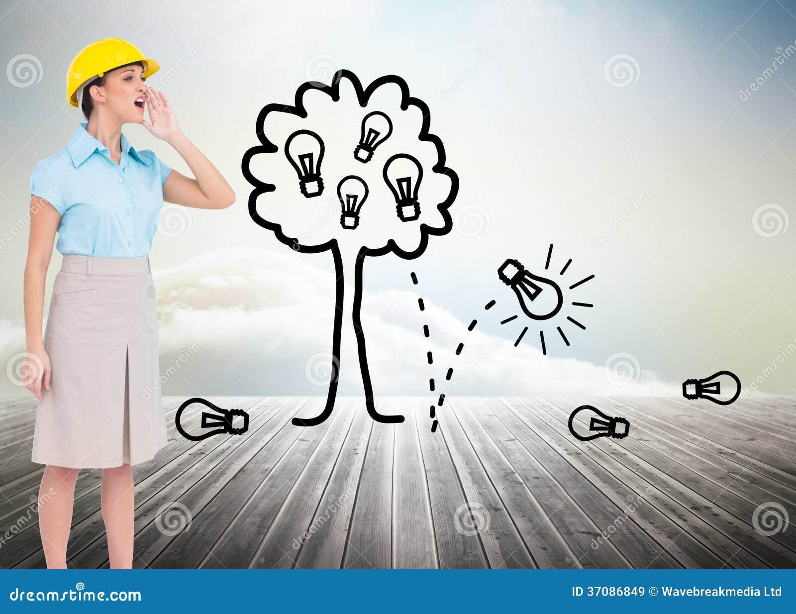 Download Atrakcyjny Architekta Wrzeszczeć Ilustracji - Ilustracja złożonej z pomysł, słońce: 37086849