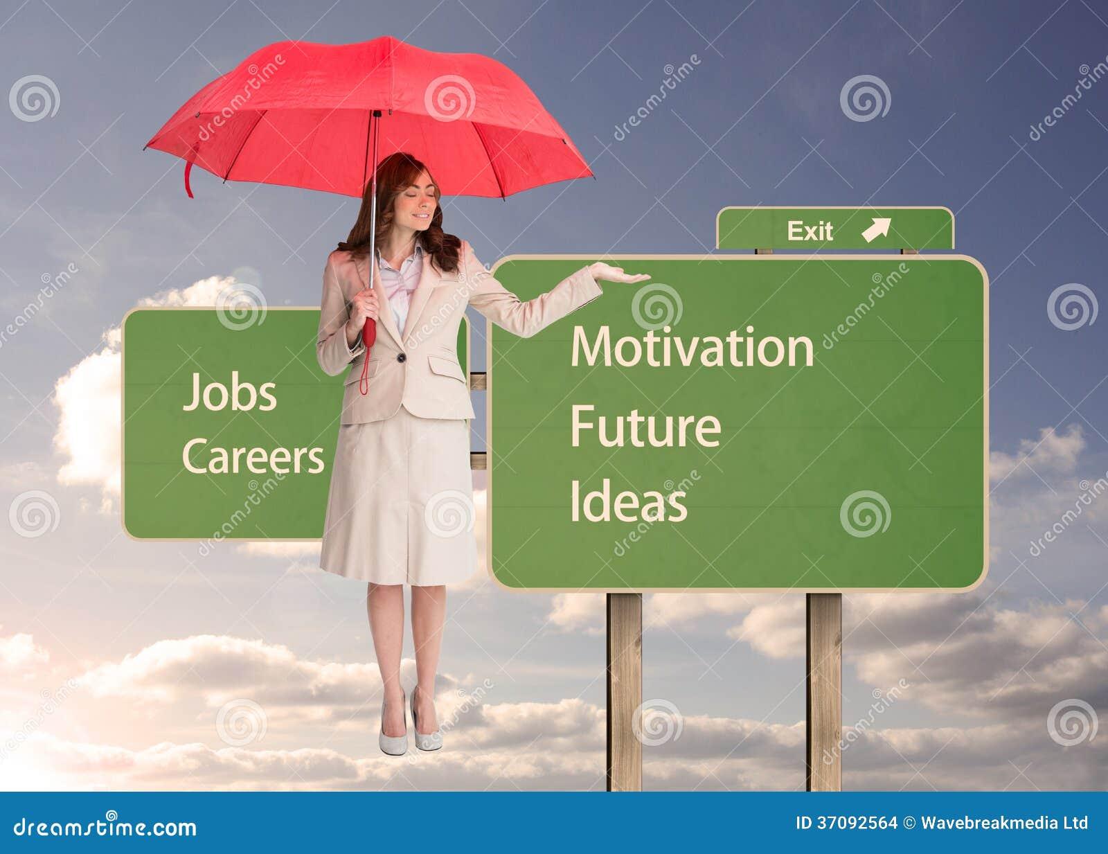 Download Atrakcyjny Bizneswomanu Mienia Czerwieni Parasol Zdjęcie Stock - Obraz złożonej z wyjście, sunshine: 37092564