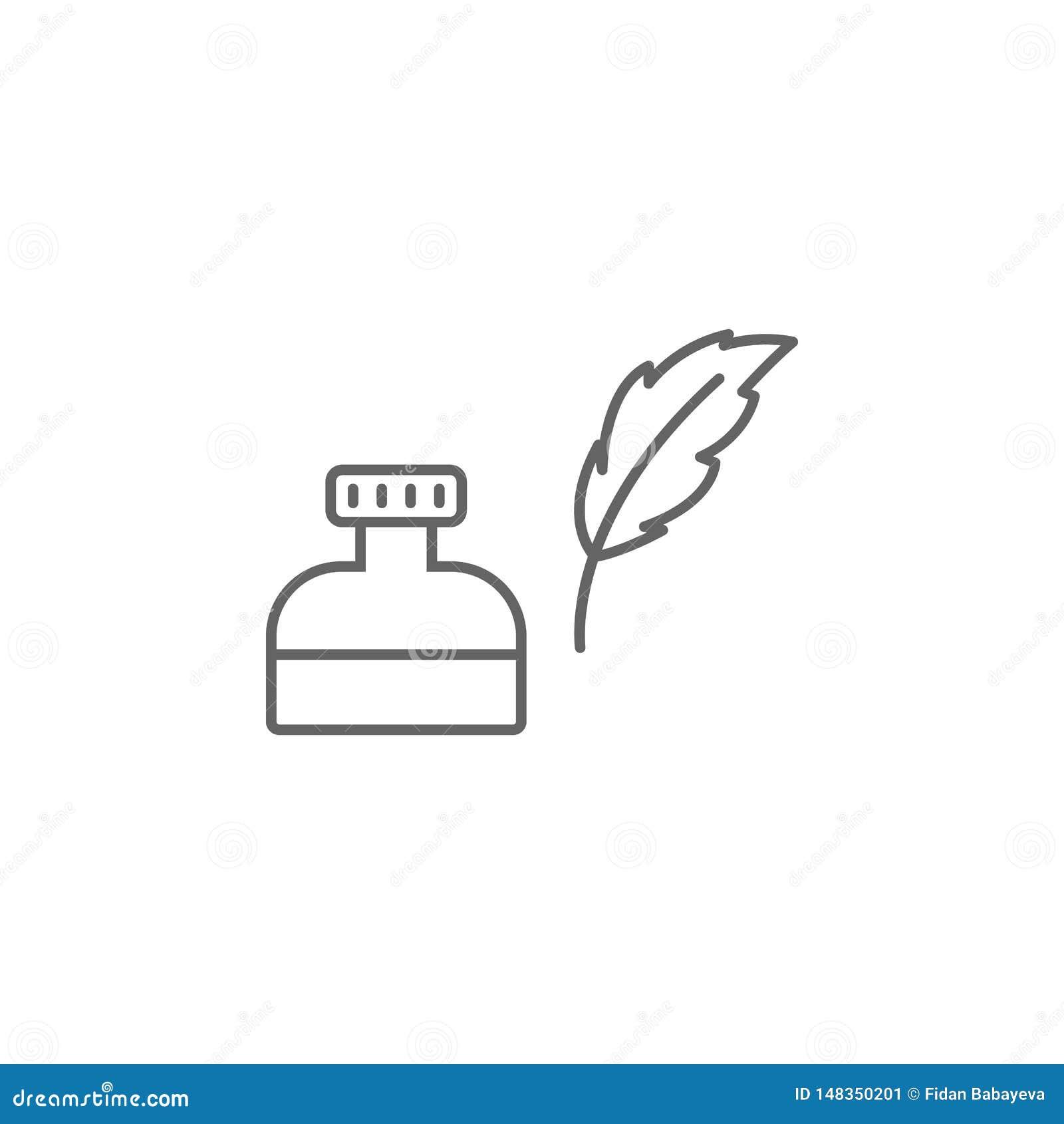 Atramentu usa konturu ikona Znaki i symbole mog? u?ywa? dla sieci, logo, mobilny app, UI, UX