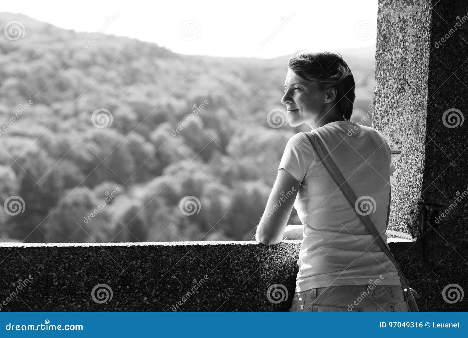 Através da janela do castelo