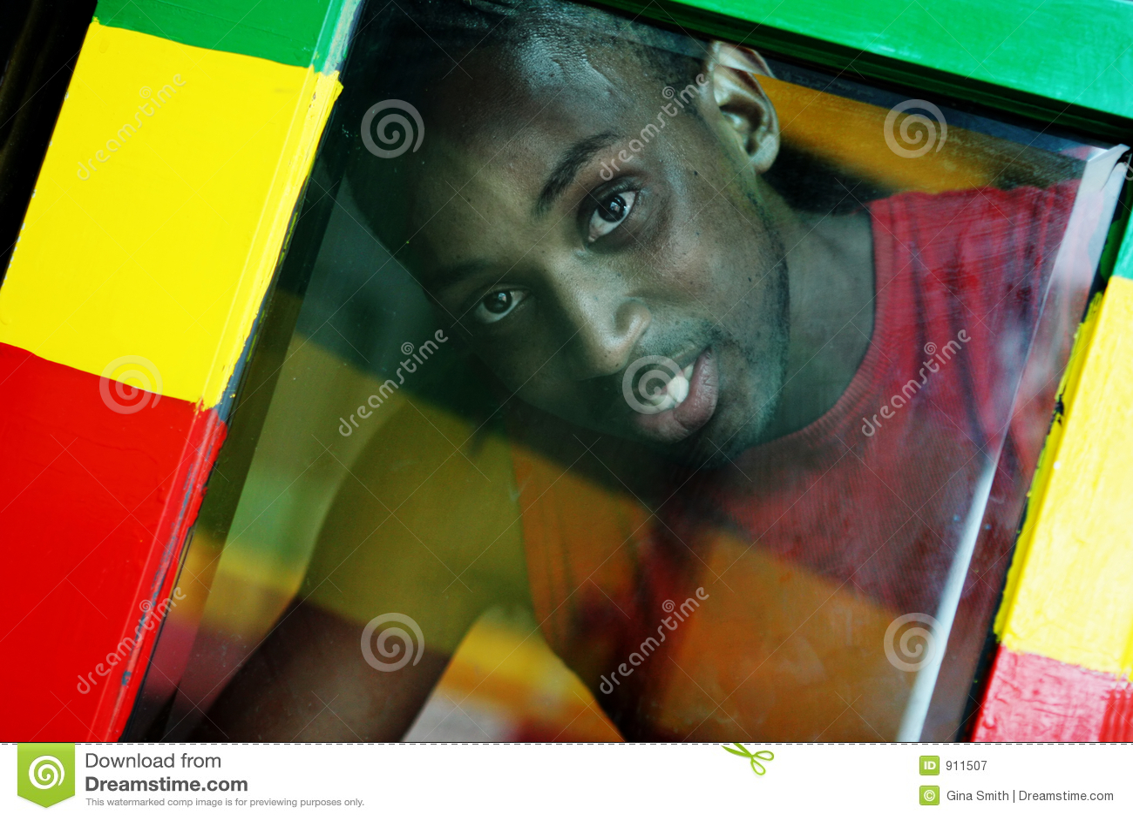 Através do indicador - cores da reggae
