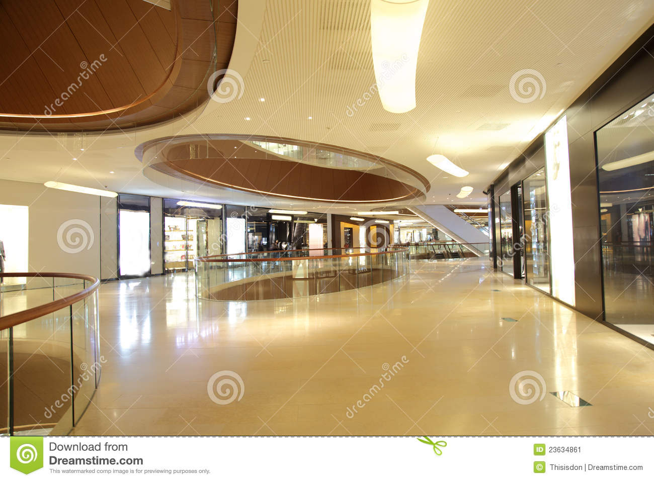 The Atrium Of Luxury Shopping Mall Editorial Photo Image