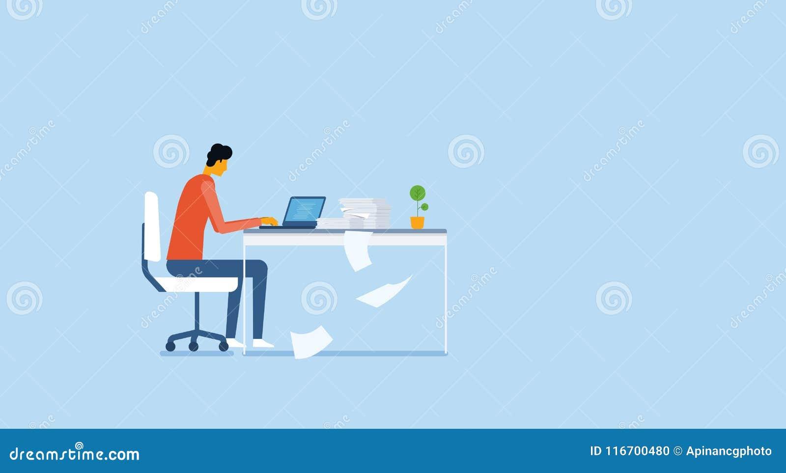 Att arbeta och projektet för affärsfolk analyserar forskningprocess