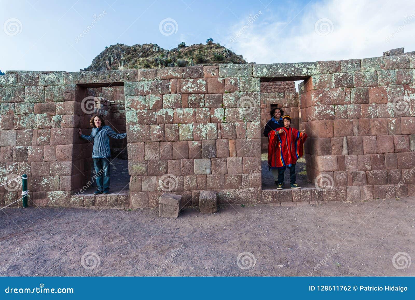 Att besöka för turister fördärvar av Pisac