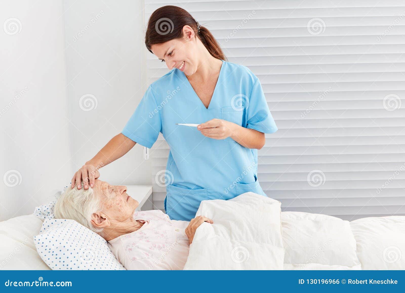 Att bry sig anhörigvårdaren på feber