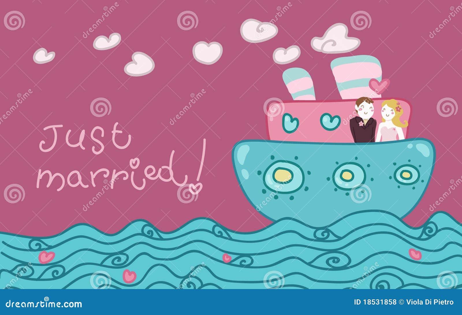 Att gifta sig förälskelse för fartyg bara