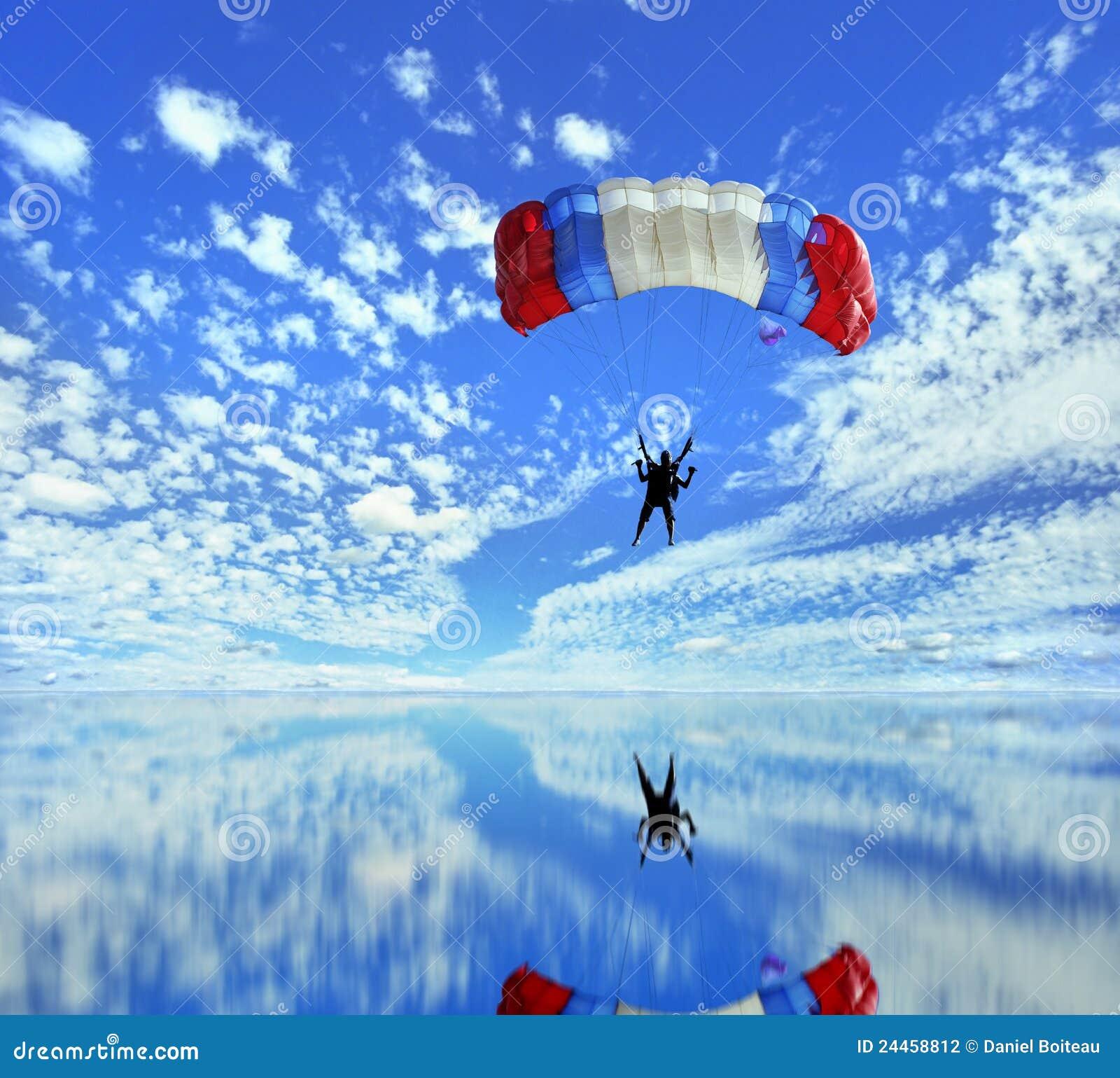 Att landa hoppa fallskärm