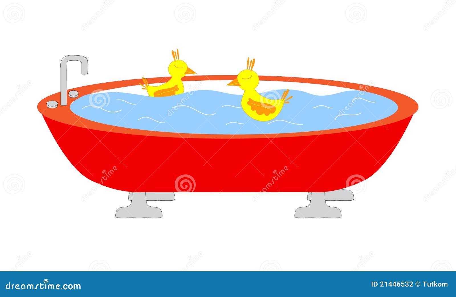 Att simma för änder badar