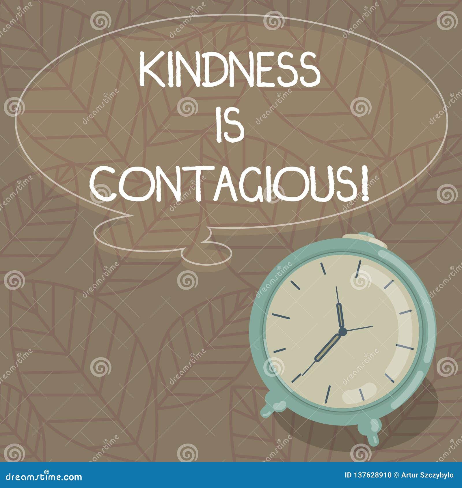 Att skriva anmärkningen som visar vänlighet, är smittsamt Affärsfotoet som ställer ut det, antänder lusten att göra en gentjänst