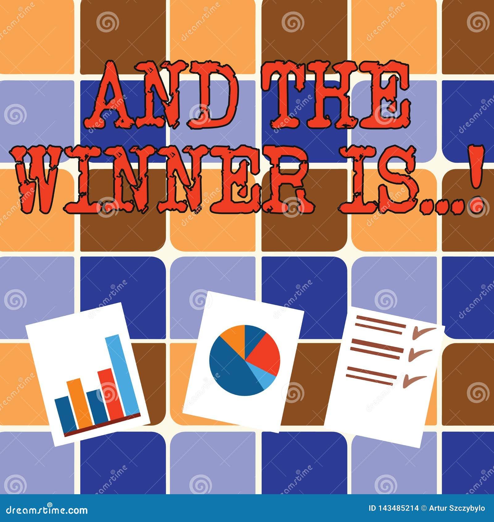 Att skriva anmärkningsvisning och vinnaren är Affärsfoto som ställer ut meddelande som fick det första stället på konkurrens elle