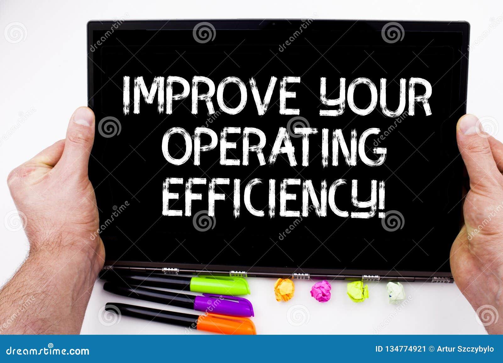 Att skriva för handskrifttext förbättrar din fungerande effektivitet Begreppsbetydelsen gör justeringar för att vara effektivare