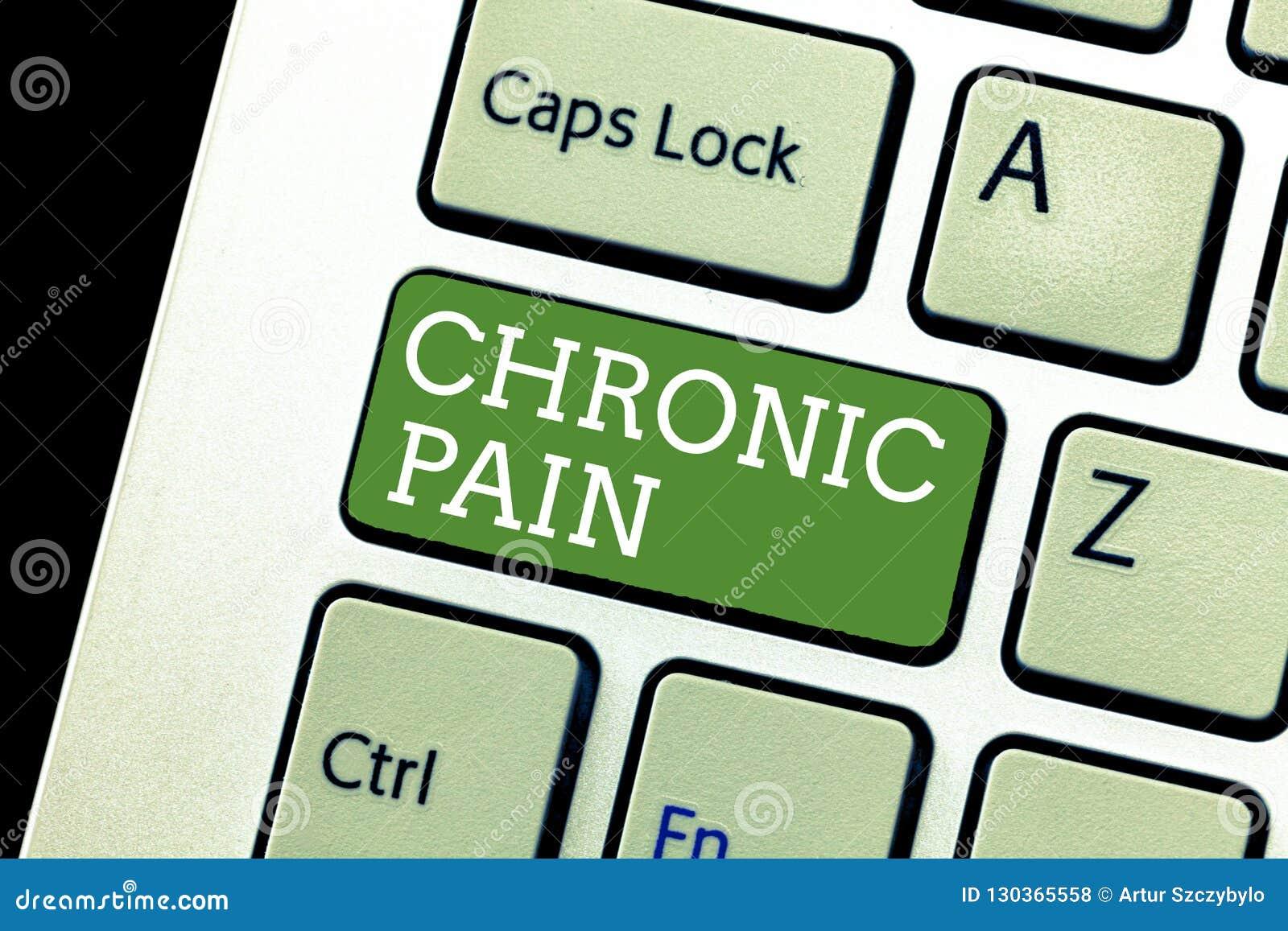 Att skriva för handskrifttext som är kroniskt, smärtar Begreppsbetydelsen smärtar som fördjupa utöver den förväntade perioden av