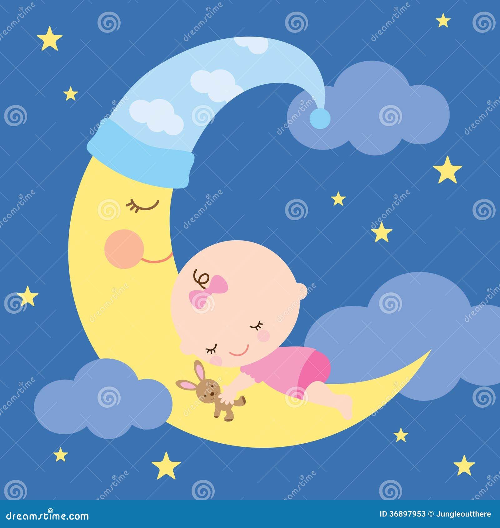 Att sova behandla som ett barn på månen