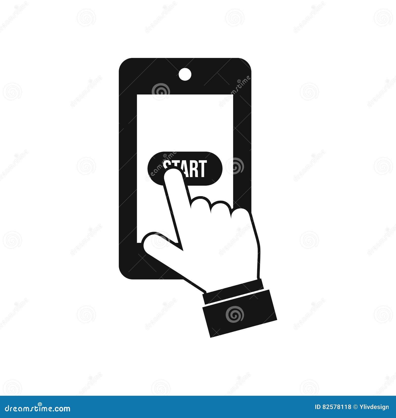 Att spela spelar på smartphonesymbolen, enkel stil