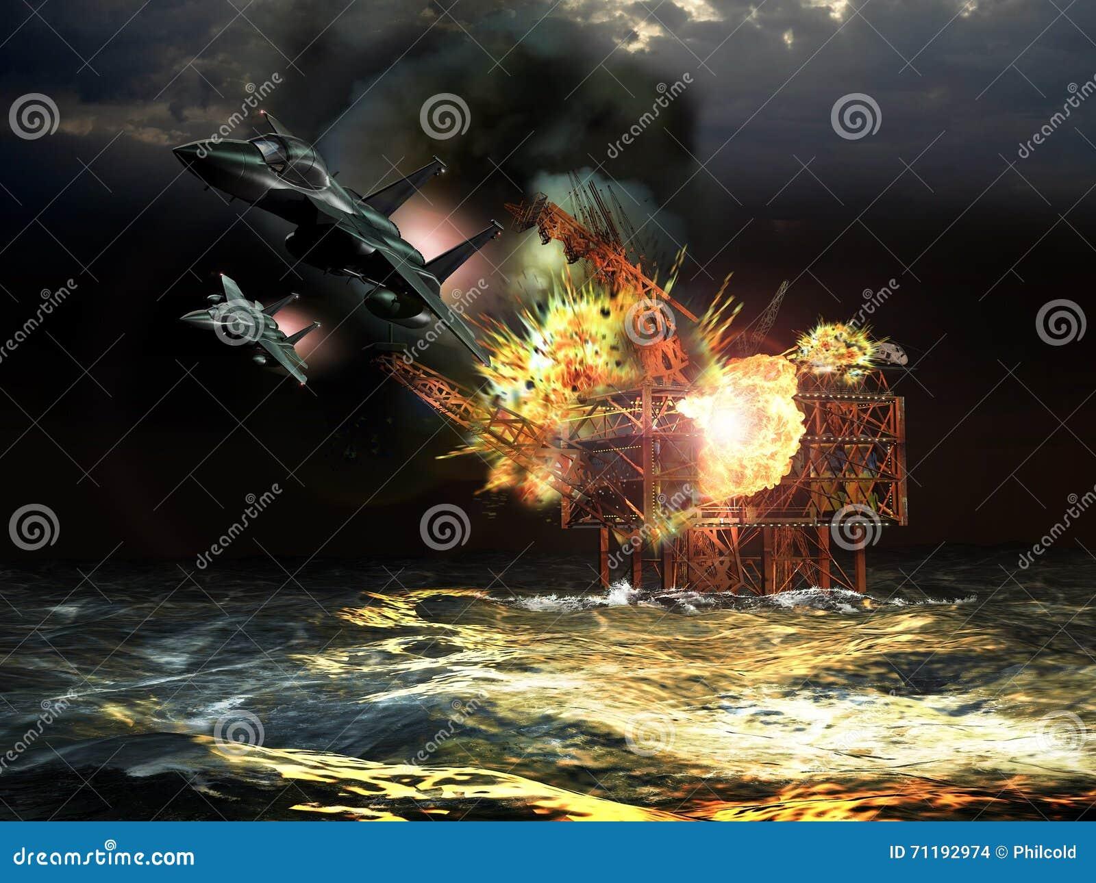 Attacco all impianto offshore