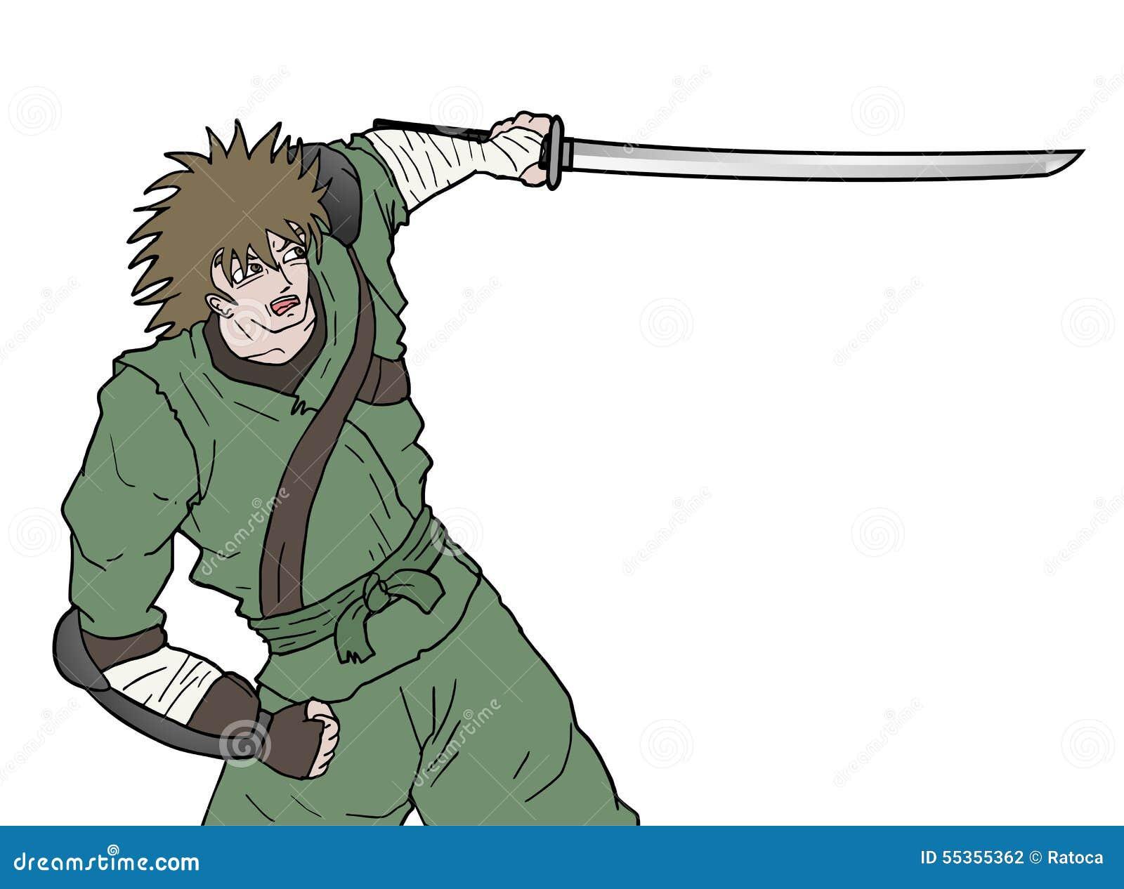 Attacco della spada del samurai