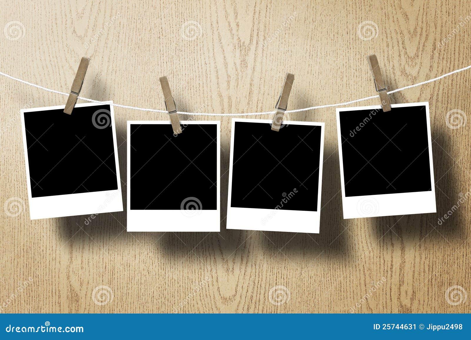 Attach tła ramy papieru fotografii arkany drewno