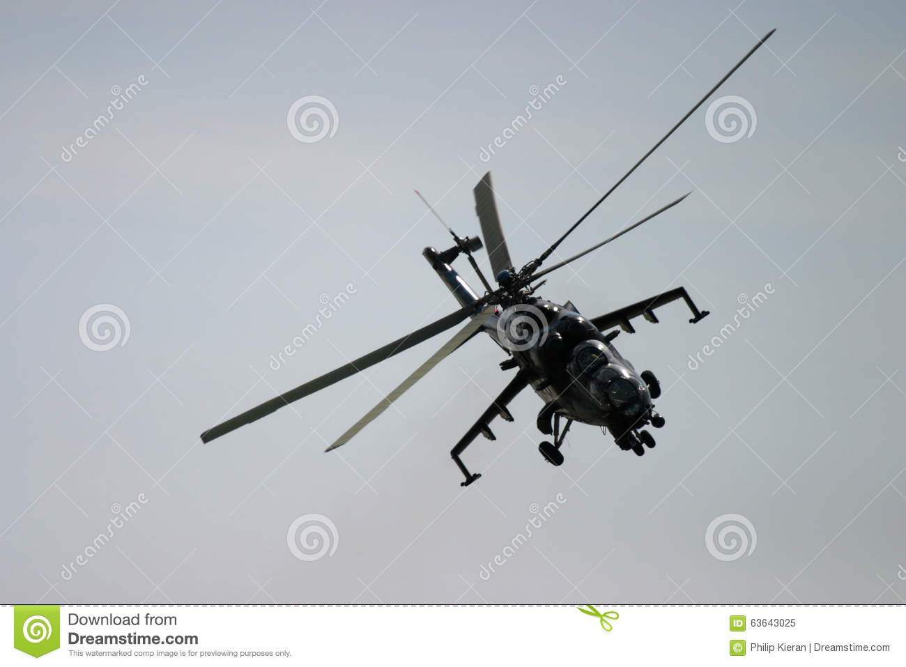 Attack Helicopter At RAF Fairford Air Tattoo Editorial Image