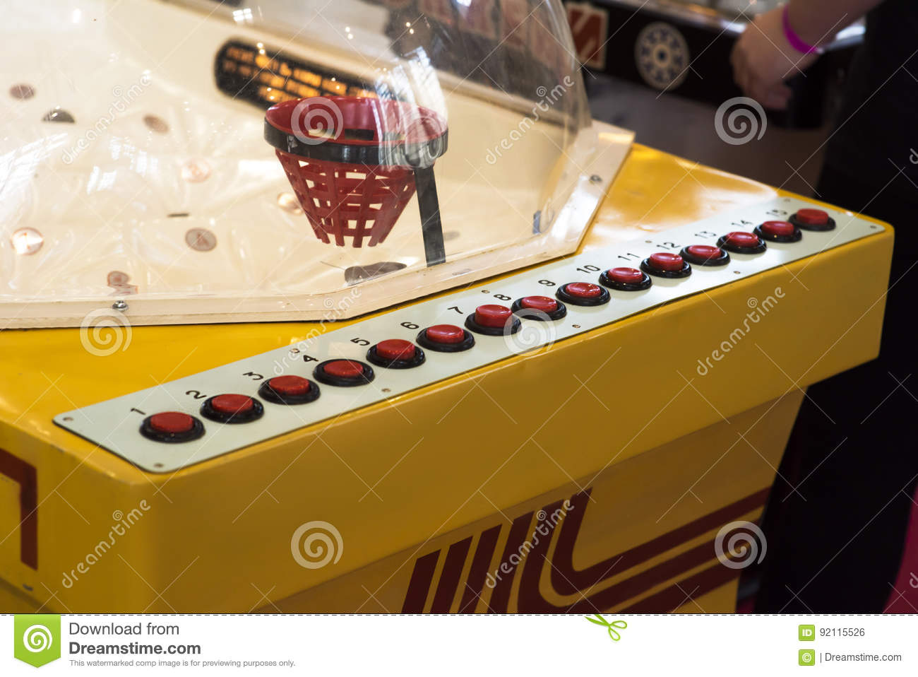 Vintage table hockey - Attack Ice Vintage Hockey Table Game Old Stock Photo