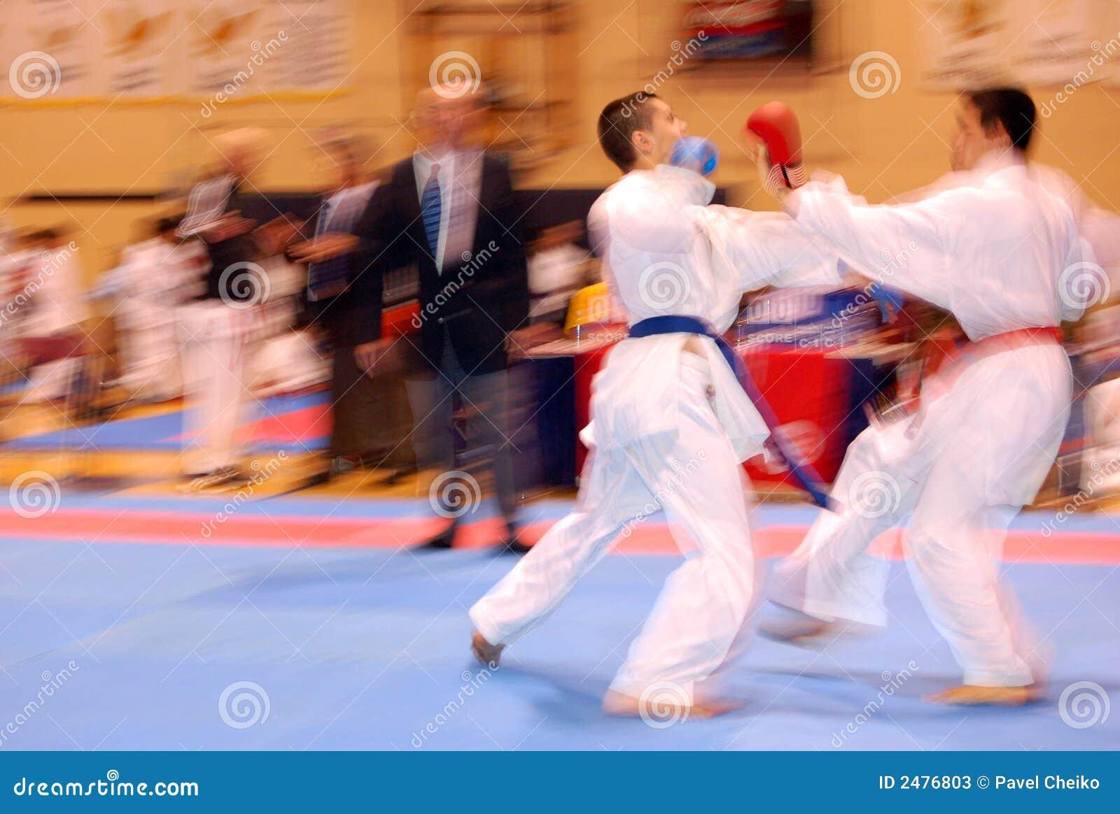 Attack in karate combat