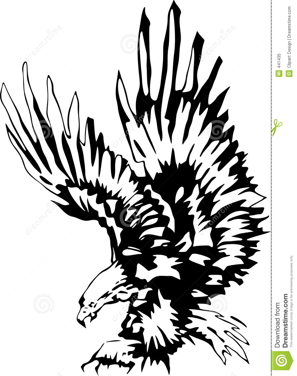 Attacking Eagle 3 Stock Illustration Image Of Clip