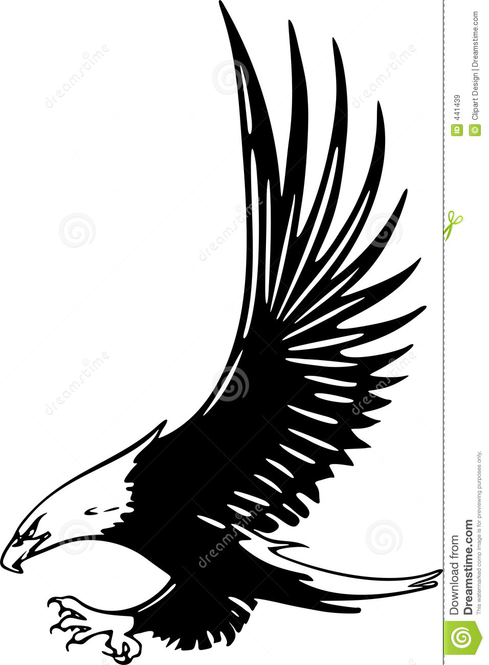 Attacking Eagle Royalty Free Stock Images Image 441439